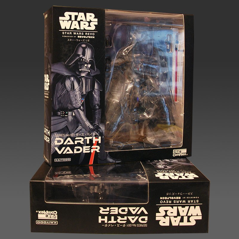 Darth Vader Star Wars Revo Action Figur 7 inch Revoltech Kaiyodo mib