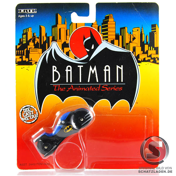 Batcycle ( Die-Cast Metal ) - Batman animated - moc