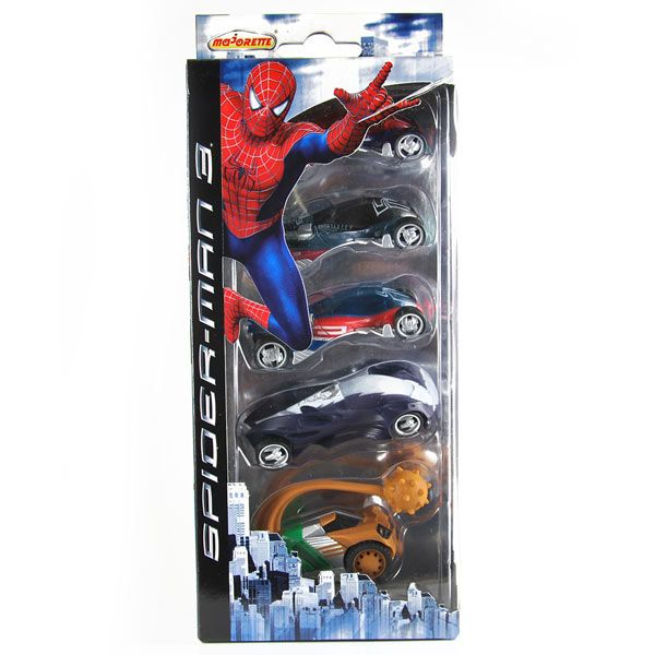 Majorette 5x Action Cars - Spider-Man 3 - ovp