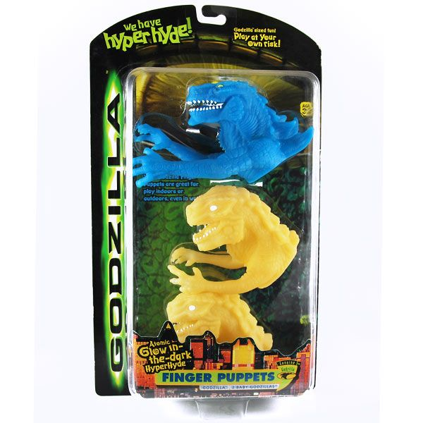 Finger Puppets ( Glow in the dark ) - Godzilla Movie - mib